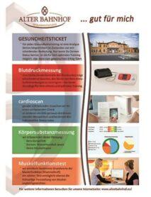 Alter Bahnhof - Gesundheitsstudio - Gesundheitsflyer